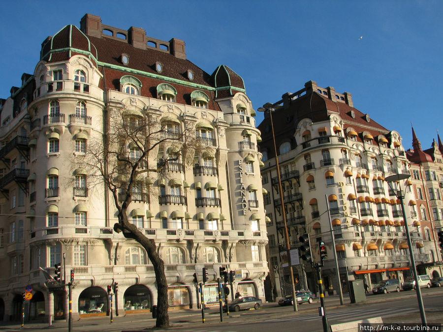 Напоминание о Вене. Дома на набережной Strandvagen