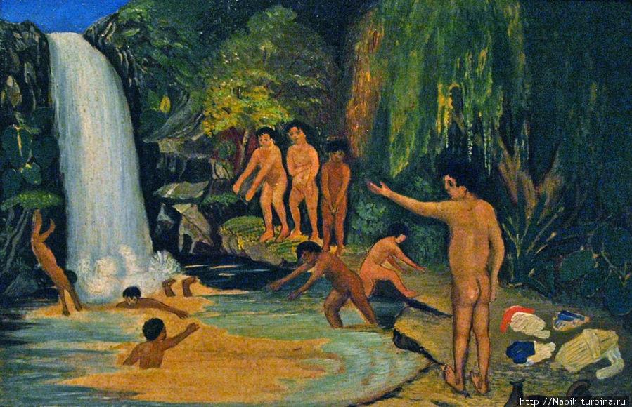 1895, мы убегали из школы, чтобы пойти купаться в озерах, где мы научились плавать