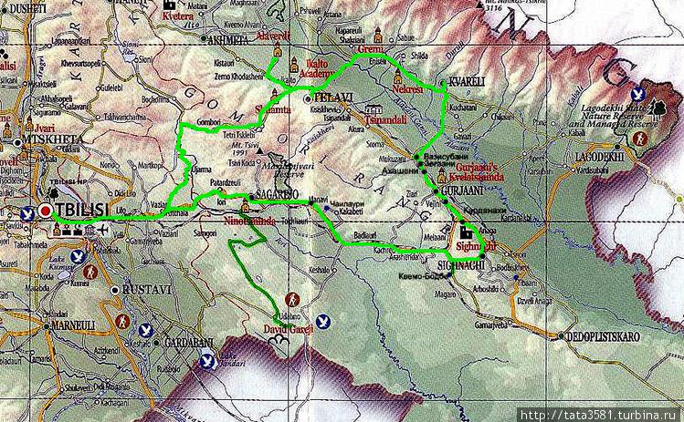 Наш маршрут по Кахетии