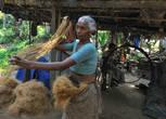 изготовление канатов из кокосового волокна
