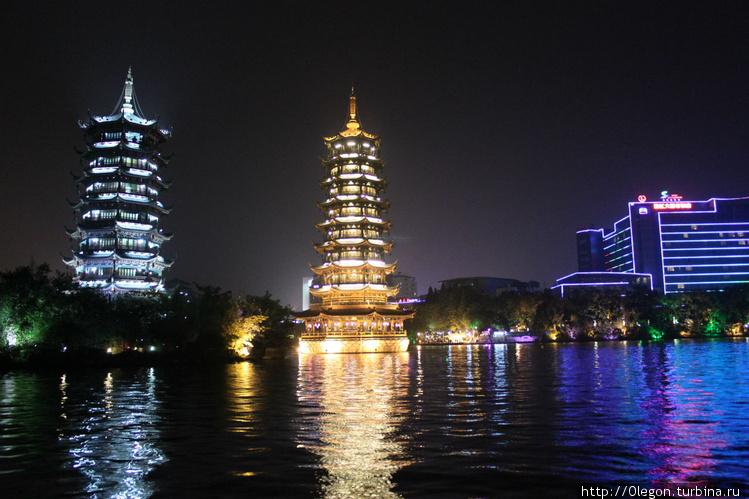 Озеро Шань с пагодами кра