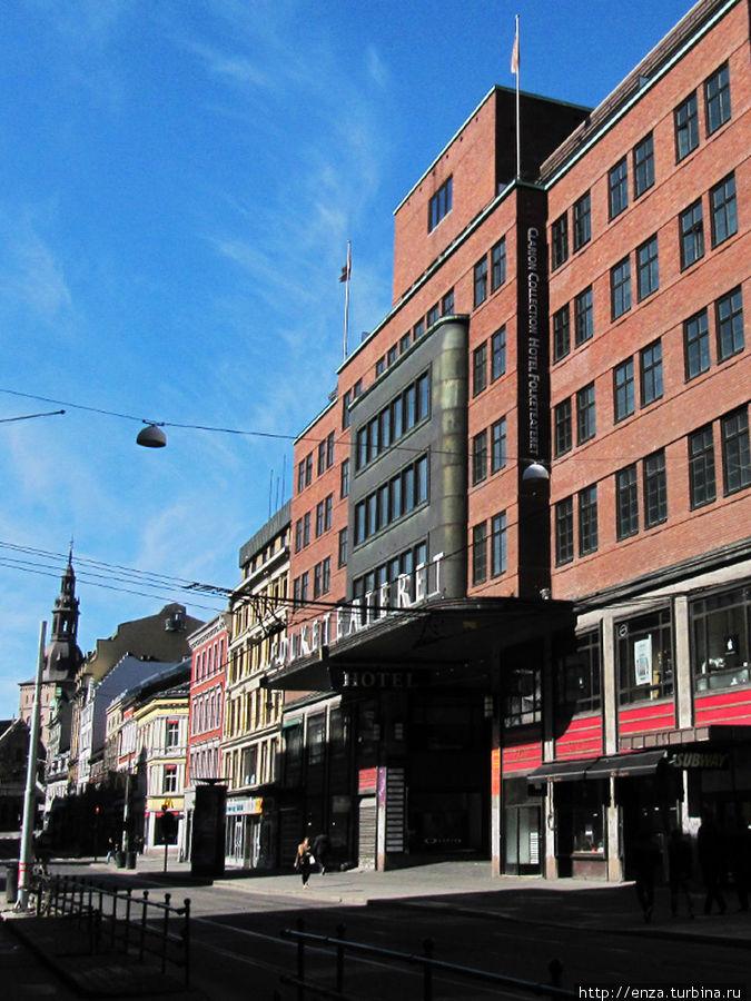 Вид на отель с улицы Storgata.