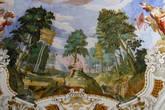 Деталь фрески с райским садом