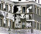 Черно-белые сграффито дома «У черного орла»