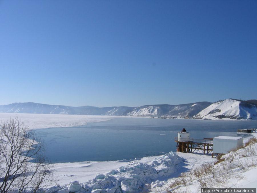 Незамерзающая часть Байкала — Ангара уже отсюда стремительно уносит воды