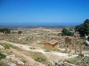 город Cyrene. Нижний город.