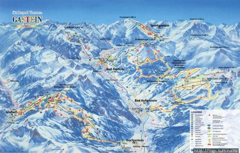 карта лыжника