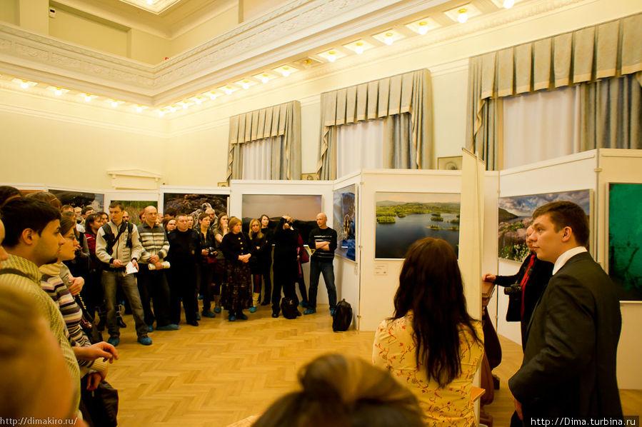 На открытии фотовыставки «Дикая природа России»