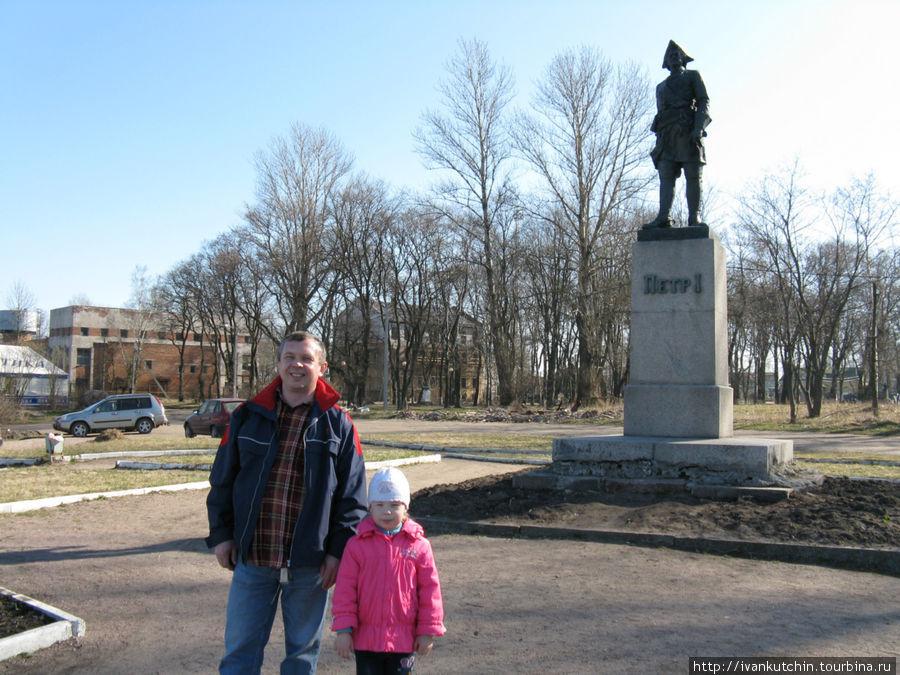 Шлиссельбург. Памятник Пе