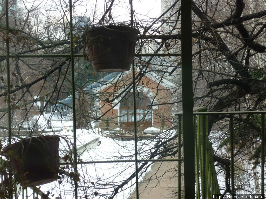 Вид от двери на террасу