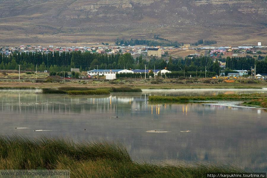 Эль Калафатэ от лагуны Нимец.