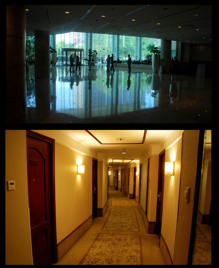 Холл и один из этажей.