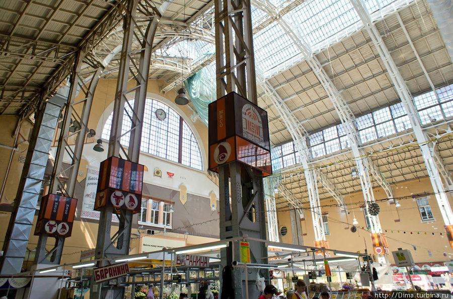 Рынок внутри, взгляд наверх.