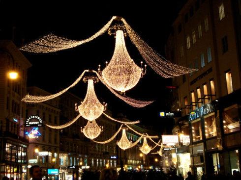 знаменитые люстры на улице Грабен