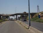 единственный разрушенный мост на трассе под Хомсом