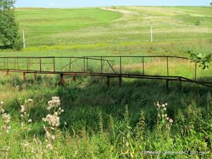 Бывший мост через болото.
