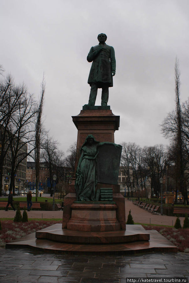 Памятник народному поэту Финляндии Й.Л. Рунебергу