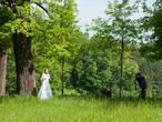 Самообслуживание... Забавная картина: жених снимает невесту, потом сам себя, потом обоих.