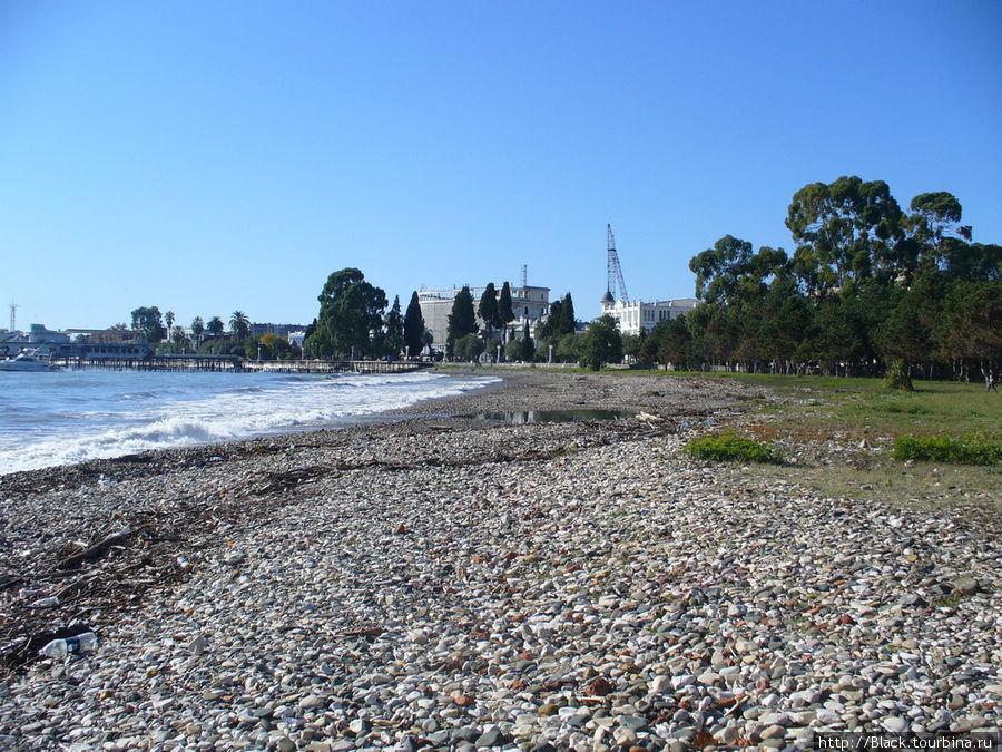 Набережная Махаджиров и пляж