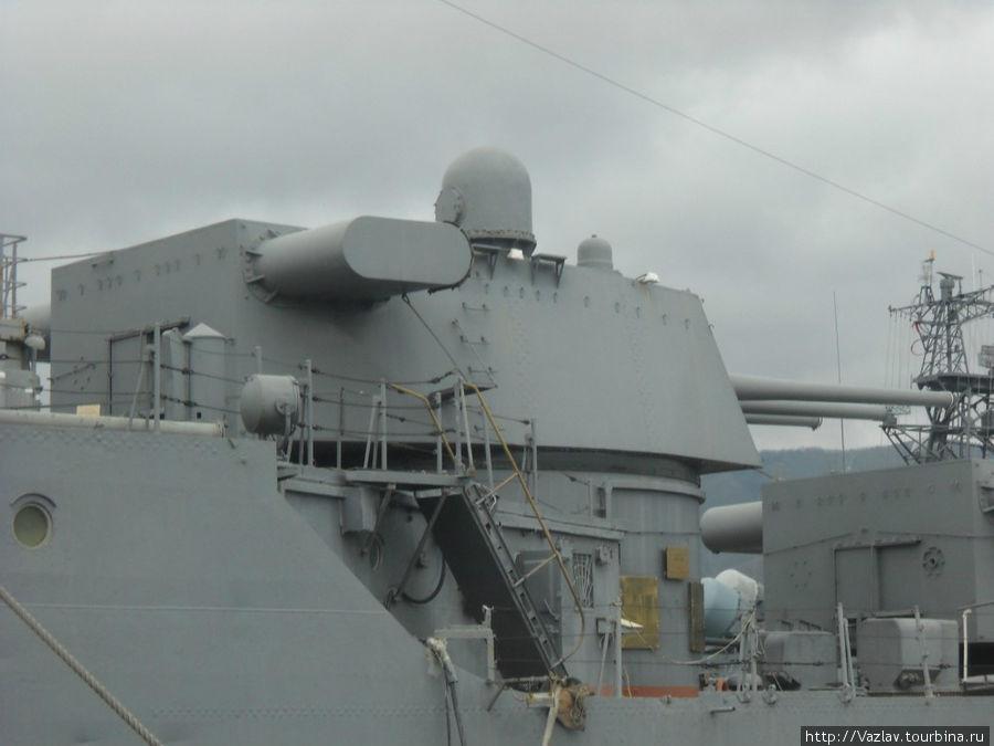 Кормовая артиллерийская башня