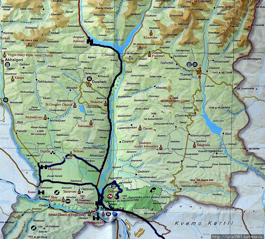 Наш маршрут по Военно-грузинской дороге и Мцхете Грузия