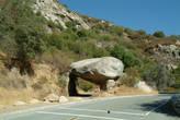 Такой камень вас ожидает при въезде в парк