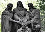 трое апостолов (один из них точно Петр) благословляют Джозефа Смита