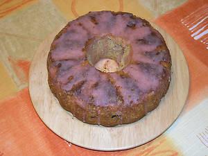 Бананово-клубничный пирог.