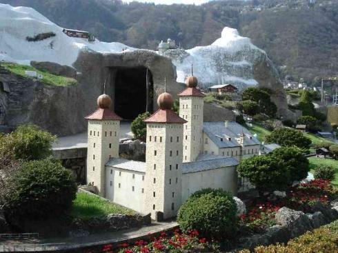 Парк Швейцария в миниатюре Лугано, Швейцария