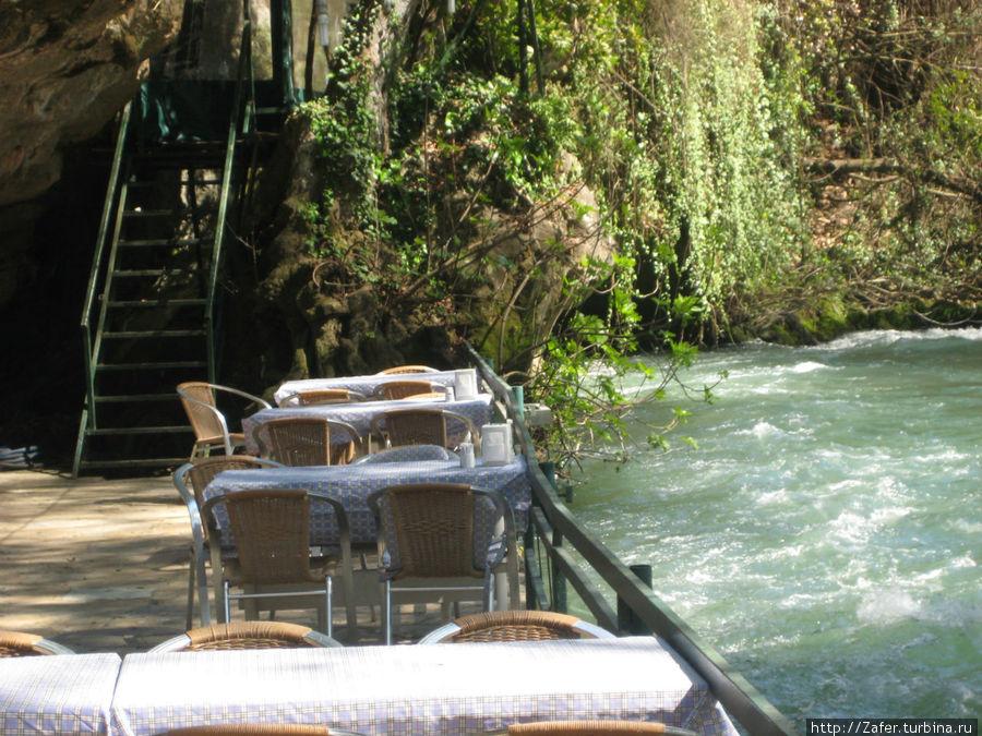 можно выпить чашечку чая возле водопада