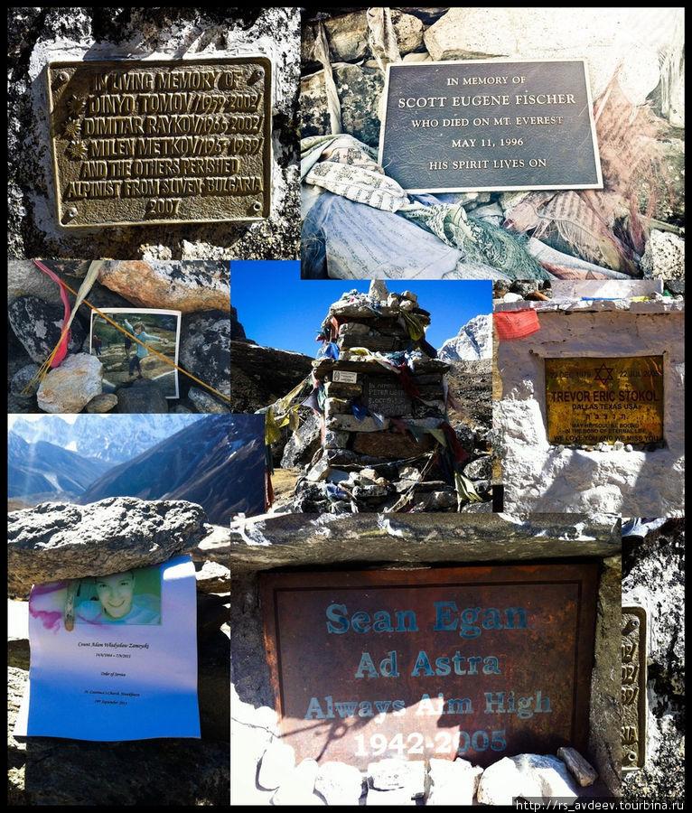 Немного печальных фактов об Эвересте: С 1922 года по разным обстоятельствам на Эвересте погибло более 250 человек (статистика до 2002 года http://www.mountain.ru/world_mounts/himalayas/2002/g...) из них только 10 процентов тел удалось захоронить, остальные так и остались не найденными или же их невозможно спустить с вершины. Многие встречаются на пути к вершине, вылезают из подо льда во время движения ледников и т.п. Здесь описаны некоторые несчастные случаи http://biz.stars.kiev.ua/smert-na-evereste-11-foto-v... Если будет желание еще больше углубиться в эту тему, рекомендую посмотреть фильм у меня на странице National Geographic: Эверест. Темная Сторона Все что вы видите на фото это памятники, которые встречаются на пути к Эвересту и чем ближе, тем их больше. Красота требует жертв…