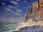 Скала в Фекаме, Claude Monet