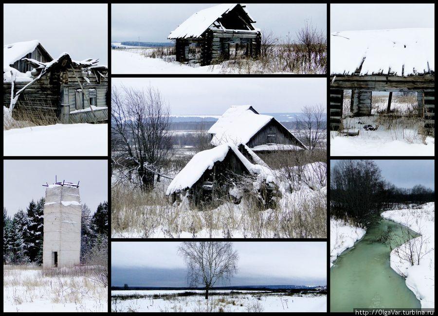 Деревенька вблизи музея и речка Боярка. Здесь уже давно никто не живет....