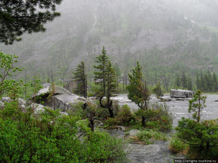 Шумы — место, где воды Среднего или 2-го озера низвергаются в Нижнее Мультинское озеро.