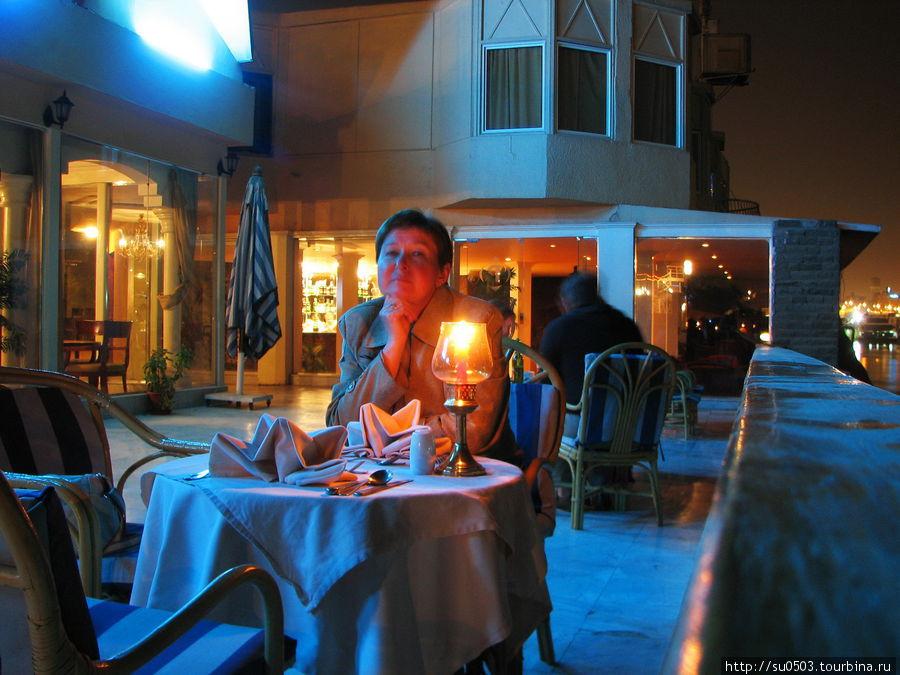 Отель ISIS. Ужин на берег