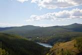 Горное озеро — одно из трех озер Учкель (Уч — три, кель — озеро)