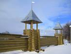Реконструкция старого городища на Стрелке