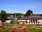 Внутренний двор дворцово-паркового ансамбля Пильниц