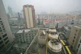Вид на город из окна отеля