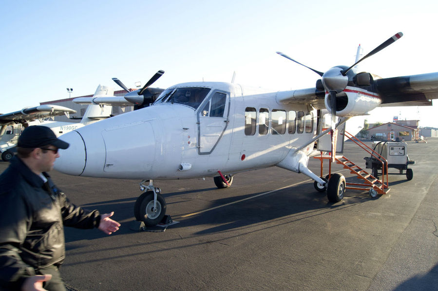 Самолет, на котором мы летели из г.Боулдер в Гранд каньон