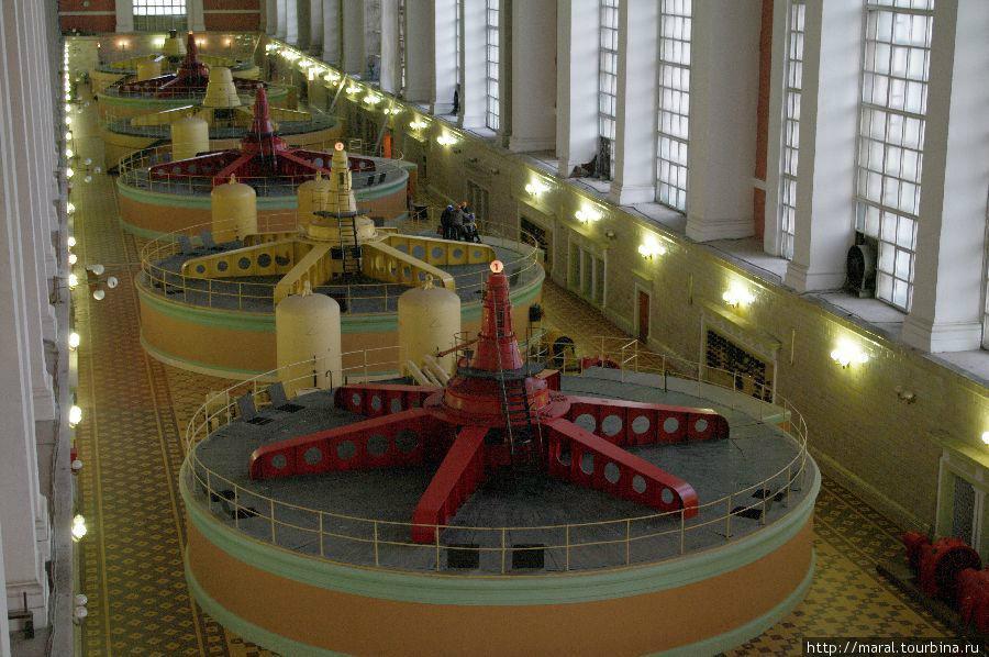 Машинный зал Рыбинской ГЭС