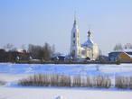 Вид на Благовещенский собор и старое городище на Стрелке