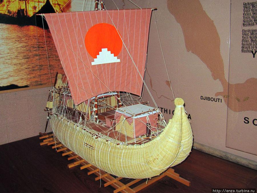 Макет лодки Ра.