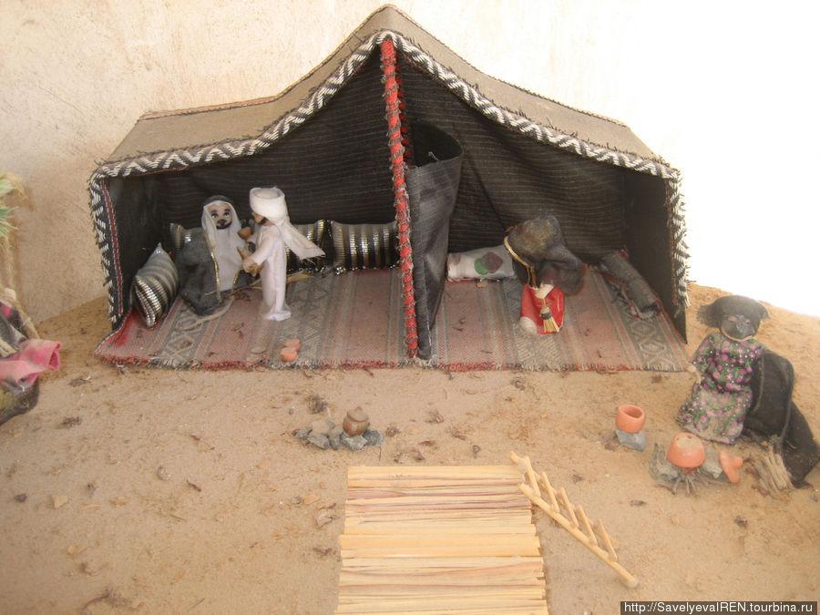 Макет жилища в пустыне.