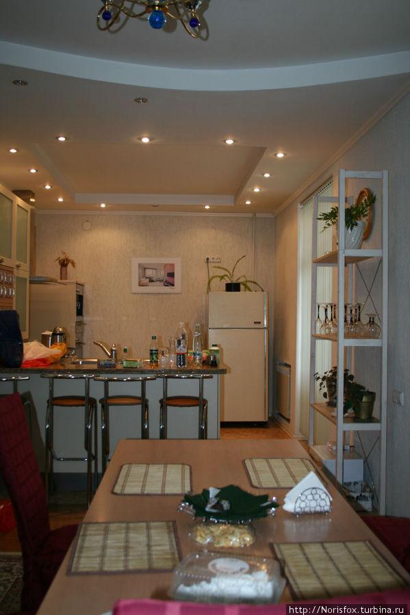 вид на кухню со стороны столовой