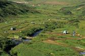 Большой лагерь в долине ручья Спокойный.