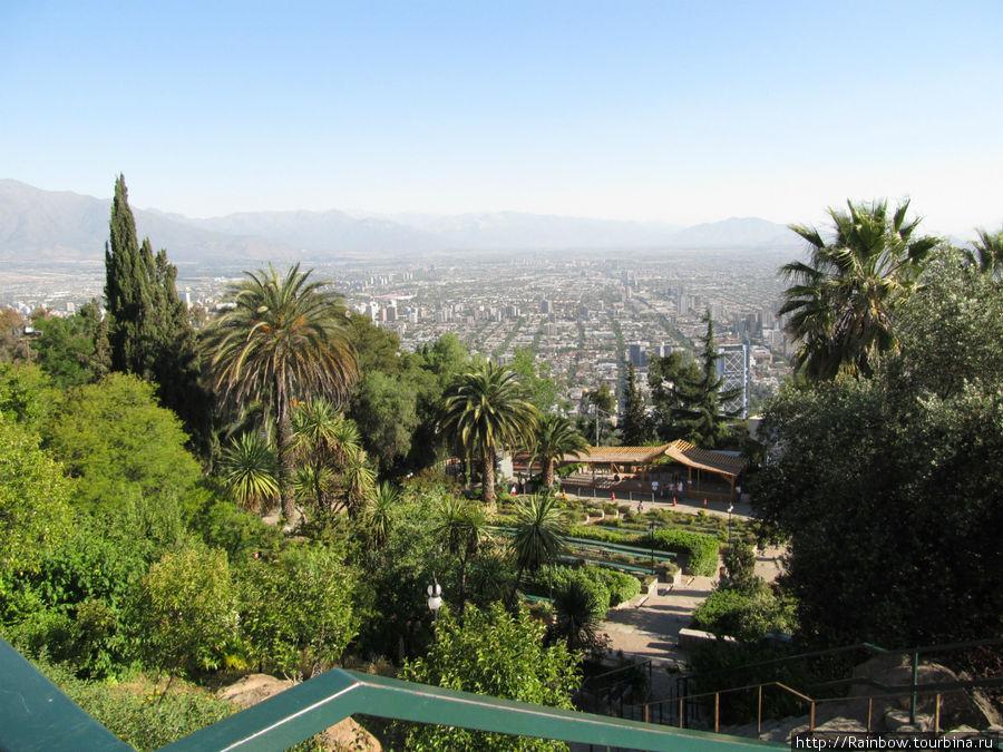 Вид из парка на город