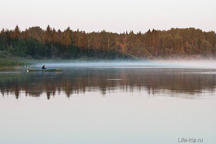 рыбалка на озере селище