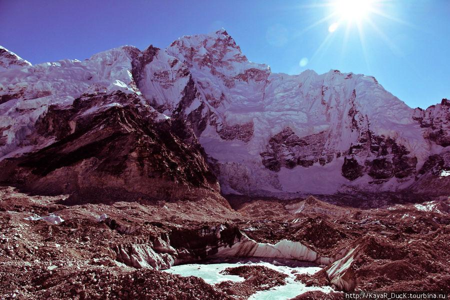 Эверест и ледник перед ним