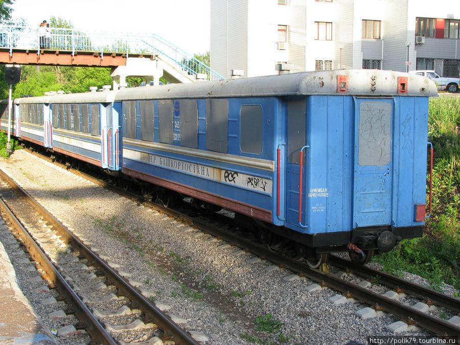 Поезд детской железной дороги.